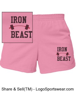 Pink cheer shorts Design Zoom