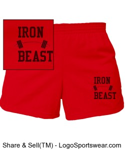 Red cheer shorts Design Zoom